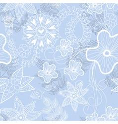 blue flower background vector image vector image