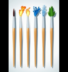 brushes painter vector image