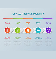 business timeline infographic in paper vector image vector image