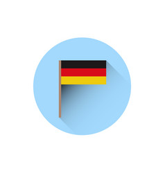 german flag icon oktoberfest festival holiday vector image