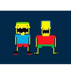 Pixel People vector image
