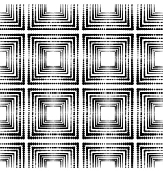 Repeating geometric tiles with squares vector