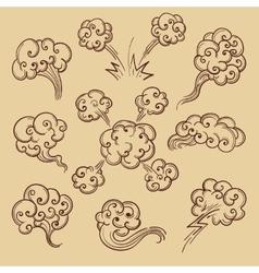 Steam in retro sketch cartoon style vector image vector image