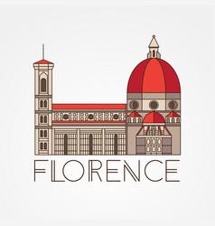 the cattedrale di santa maria del fiore - the vector image vector image