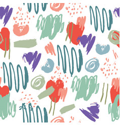 abstract artistic seamless pattern strokes vector image