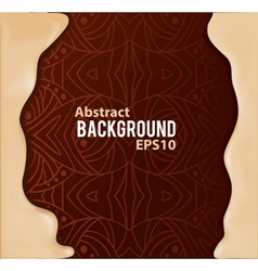 Abstract background with pattern and liquid frame vector
