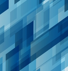 Abstract blue rectangles technology distorted vector image