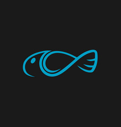 abstract fish symbol icon vector image