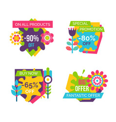 All products total absolute final sale labels set vector