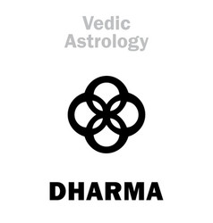 astrology astral planet dharma vector image
