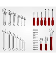 Auto service tool set vector image