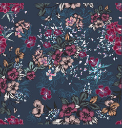 beautiful fashion elegant floral pattern vector image