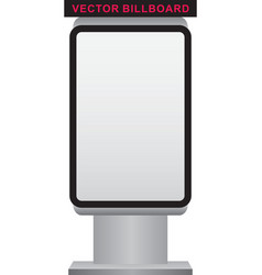 blank billboard and lightbox on white backg vector image