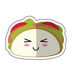 cartoon taco mexican food vector image