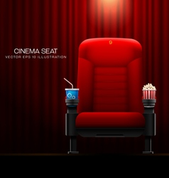 Cinema seat vector