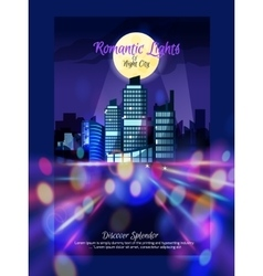 City Nightscape Poster vector