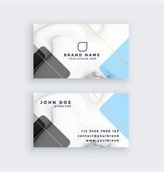 creative marble business card design vector image