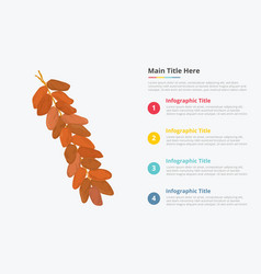 dates fruit infographics with some point title vector image