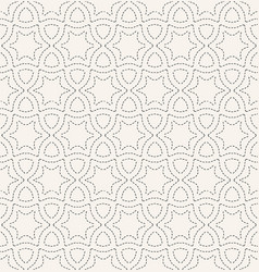 Decorative running stitch embroidery pattern vector