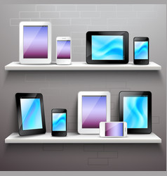 Devices On Shelves vector