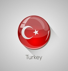 European flags set - Turkey vector