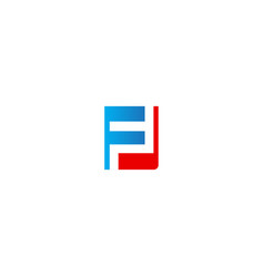 f initial colored company logo vector image