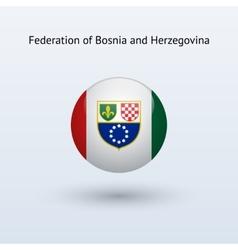 Federation bosnia and herzegovina round flag vector