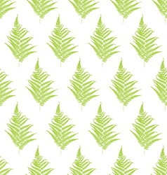 Fern frond silhouettes seamless pattern vector image