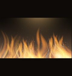 fire flame fire effect background red vector image