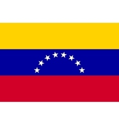 Flag of Venezuela in correct proportion and colors vector
