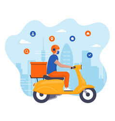 flat modern design delivery concept vector image