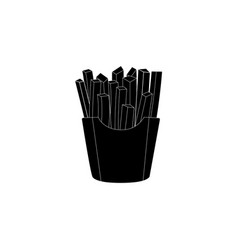 french fries isolated on white fast food vector image