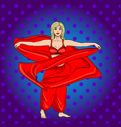 girl dancer oriental style of the costume vector image