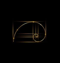 golden ratio fibonacci number golden section vector image