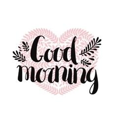 Good morning card vector image