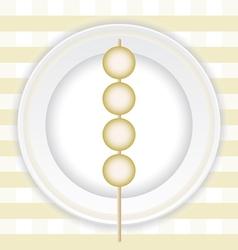 Grilled meatballs vector