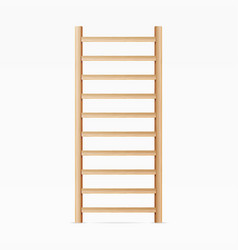 Gymnastics wall bars ladder swedish staircase vector