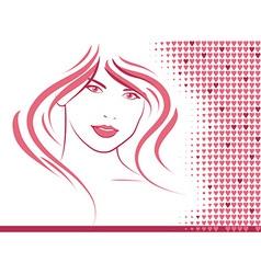 Hair and Hearts vector image