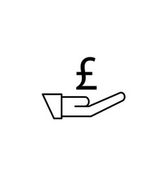 hand pound icon element of finance signs and vector image