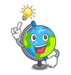 have an idea globe mascot cartoon style vector image