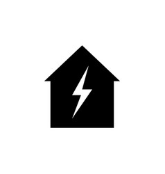 home lightning icon on white background can be vector image