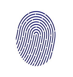 Id application icon fingerprint vector