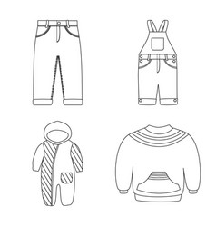 Isolated object wear and child symbol vector