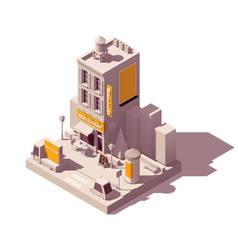 isometric outdoor advertising types vector image