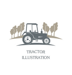 logotype tractor - vector image vector image