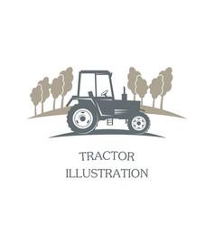logotype tractor - vector image