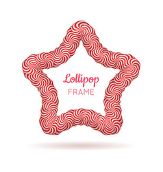 Lollipop star red frame vector