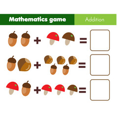 Mathematics workshhet counting eduational game vector