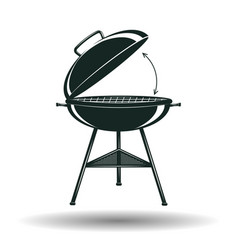 monochrome bbq grill sign vector image