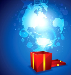 new world for gift vector image